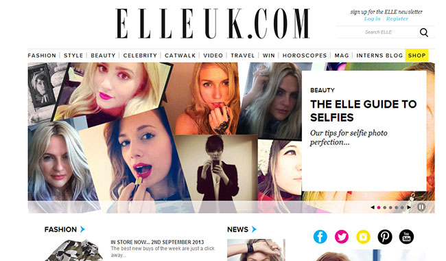 elle homepage 7 content strategy recommendations for the new Elle UK online store